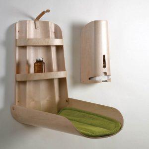 Wandwickeltisch Design aus Holz