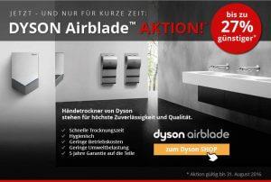 Dyson Airblade Händetrockner Angebot