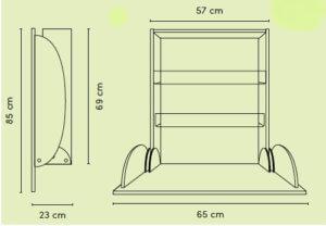 Was zeichnet einen platzsparenden Wickeltisch aus?