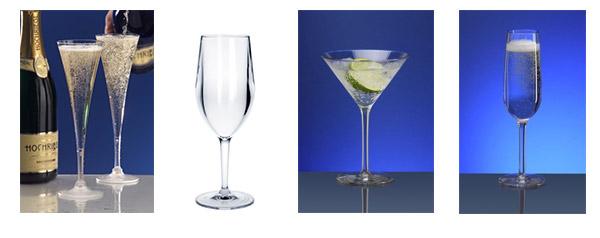 Kunststoff Sektgläser, Champagner Glas, Martini Glas