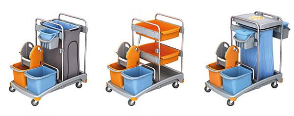 Reinigungswagen und Putzwagen von Splast
