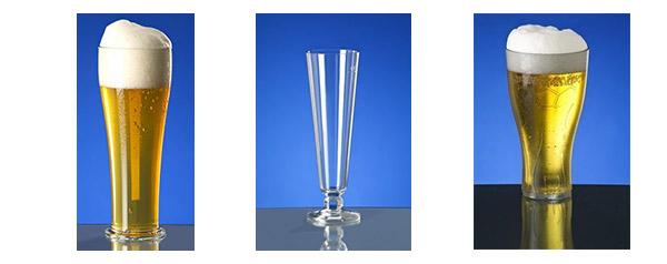 Weizenbierglas aus Kunststoff