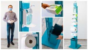 Desinfektionssäule & Hygienestation Hygiene-Point – NEU & Schnell Lieferbar!