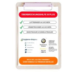 Luftreiniger, Händetrockner & Heizstrahler — Überbrückungshilfe III PLUS — bis zu 100% vom Staat finanziert!