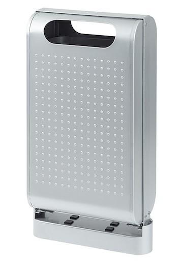 Urbanet Abfallkorb 60L mit genoppter Frontseite und mit Verriegelungssystem