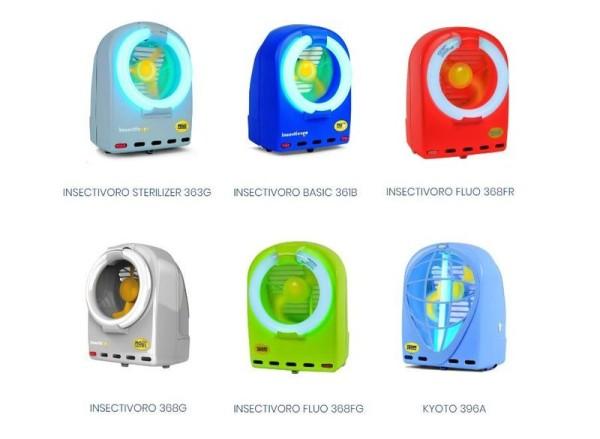 Blauer Insectivoro Fan-Insektenkiller 396A mit 230V - 50Hz und 35W von Moel