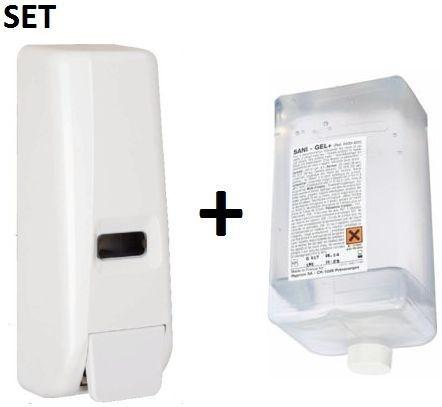 SET Desinfektions- und Seifenspender 400 ml + Sani Gel Desinfektionsmittel 400 ml Hyprom SA