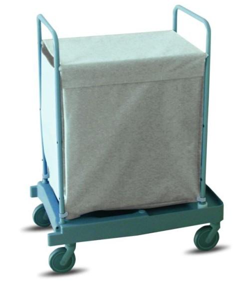 IPC Euromop Wäschewagen mit 200 Liter Kapazität - mit 4 Rollen und 2 Bremsen Hotelwagen 200l Wäschesack Hotel Wäscherei