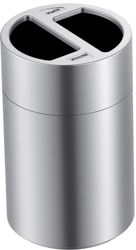 Großvolumiger Recycling-Abfalleimer 2x60 Liter