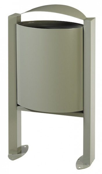 Rossignol Arkea trash can 40 liter made of steel without ashtray with pedestal Rossignol 56305,56308,56309,56246