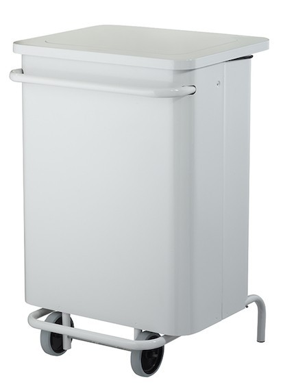 Rossignol mobile pedal bin 70L with wide pedal and detachable front cover Rossignol 57251,57256