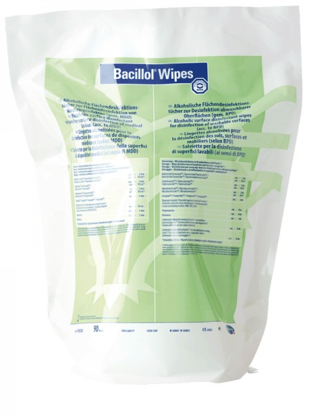 Bacillol® Wipes Alkoholische - Schnell Desinfektionstücher Paul Hartmann Ges.m.b.H.  90 Stück
