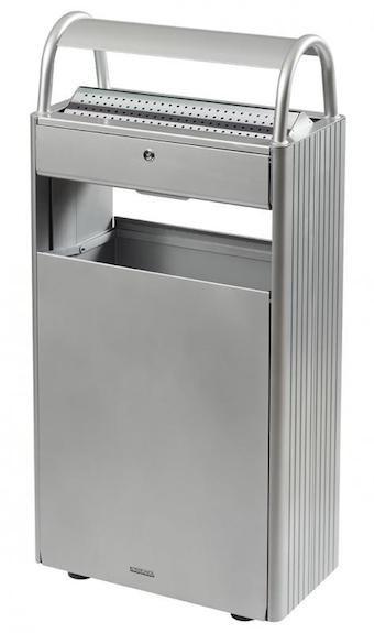 Rossignol Kopa floor mounted ashtray/bin 12L/60L with triangular key lock Rossignol 56447,56461,56448,56591