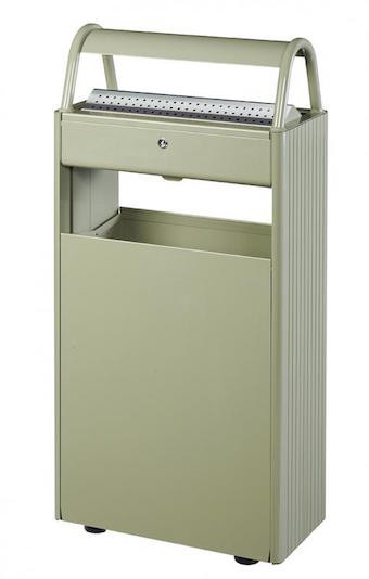 Rossignol Kopa floor mounted ashtray/bin 12L/60L with triangular key lock Rossignol 56447,56461,56448,56591