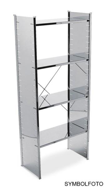 Graepel High Tech erstklassiges H2 Regal aus silber lackiertem Stahl Graepel Hightech K00089608