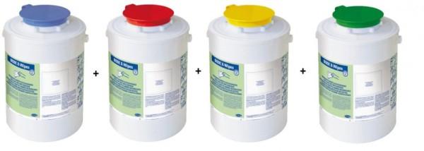 Set X-Wipes Desinfektion Vliestuch Spendersystem in 4 verschiedener Farben Paul Hartmann Ges.m.b.H. Set XWipes
