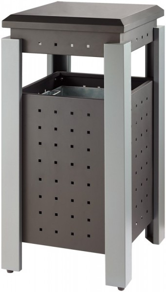 Square Outdoor Rubbish Bin VB 667857