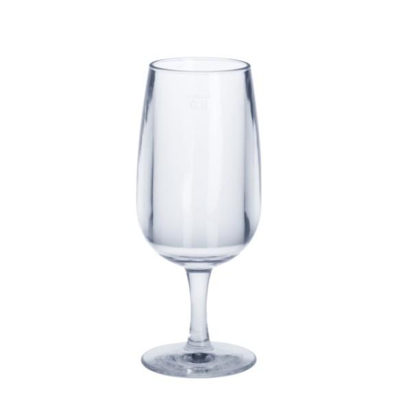 Weinglas 0,1l SAN Glasklar aus Kunststoff wiederverwendbar