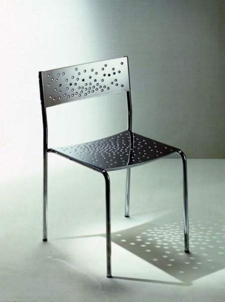 Graepel Tempesta erstklassiger Outdoor Stuhl aus Edelstahl 1.4016 silber lackiert und behandelt Graepel Tempesta Tempesta Stuhl silber lackiert und behandelt