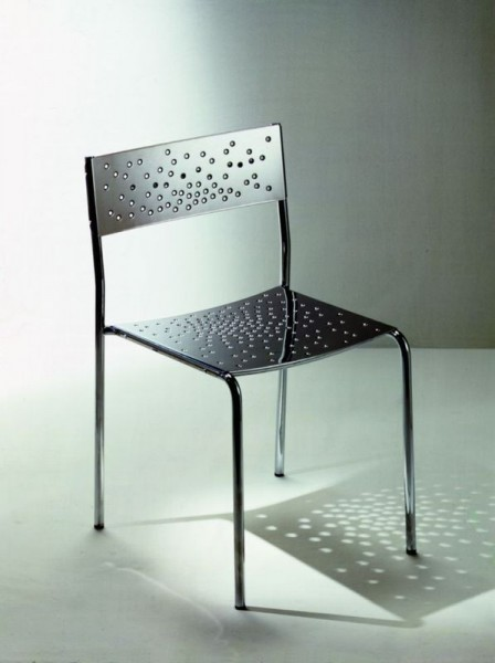 Graepel Tempesta erstklassiger Outdoor Stuhl aus Edelstahl 1.4016 silber lackiert und behandelt Graepel Tempesta K00042608