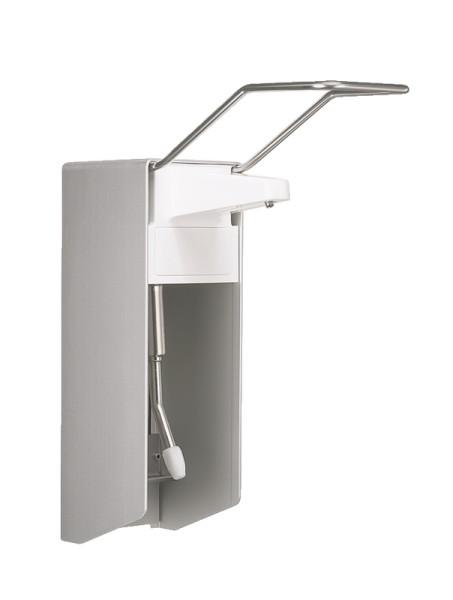 Metallspender für Desinfektionsmittel, Wasch- und Pflegelotionen 32 cm Armhebel Ophardt Hygiene 1410997
