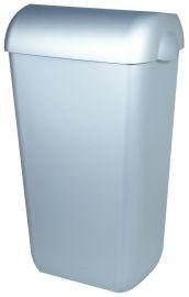 PlastiQline Abfallbehälter in Edelstahl-Look 23L zur Wandmontage oder Freistehend PlastiQ-line 5671