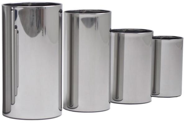 Graepel G-Line Pro hochwertige Design Papierkörbe Pieno Edelstahl poliert 1.4016 G-line Pro 21630+21650+21670+21610