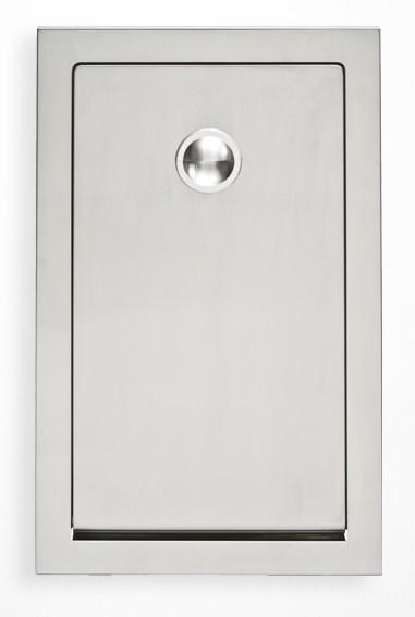 Edelstahl Wickeltisch KB111-SSRE Vertikal teilweise Unterputz MICROBAN® Hygieneschutz