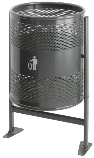 Heavy Duty Outdoor Bin, 80L made of coated steel VB 713000