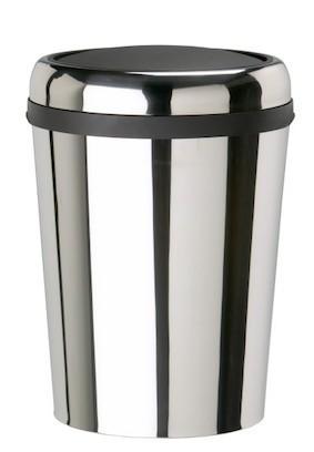 Rossignol Swingy ovaler Abfallbehälter aus Edelstahl mit Schwingdeckel 59 Liter Rossignol 59796