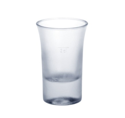 Shot glass frosted 2cl B52 SAN of plastic very robust and reusable Schorm GmbH 9054