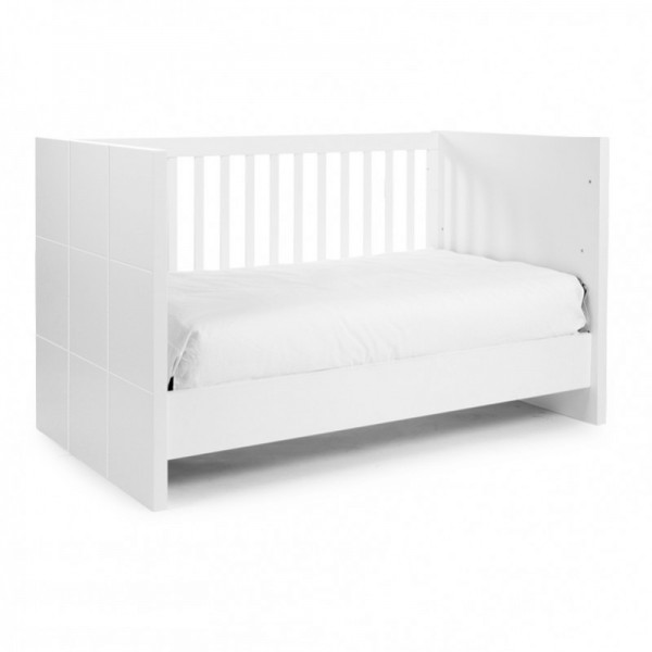 Childwood Quadro white Baby und Kinderbett B140QN Childhome Quadro White