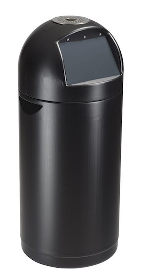 Rossignol Cyvomax black push flap bin 52 liter with optional ashtray Rossignol 57428