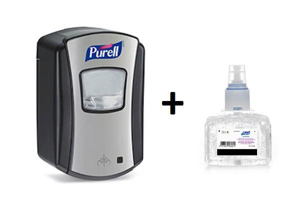 Set Purell Desinfektionsmittelspender aus Chrom + Purell ...