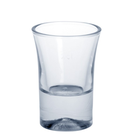 Shot glass 2cl SAN crystal clear of plastic reusable Schorm GmbH 9092
