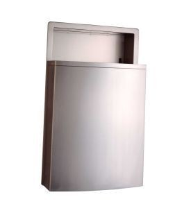 Bobrick B-43644 recessed waste receptacle with LinerMate of stainless steel Bobrick B-43644