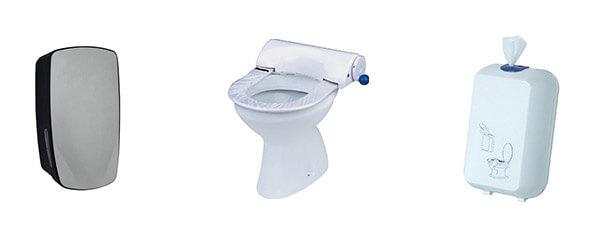 Toilettensitzreiniger und WC Spender