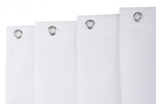 FRELU Duschvorhang NonFlame - Wei§ - Aus Polyester - Wasserabweisend - Waschbar Frelu Grš§e:3000x2000mm. 20 …sen DVT0140200,DVT0180200,DVT0240200,DVT0300200