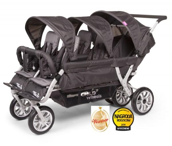 Childwheels Six seater Sportwagen für Sechs Kinder + Regenschutz Childhome  Tandems
