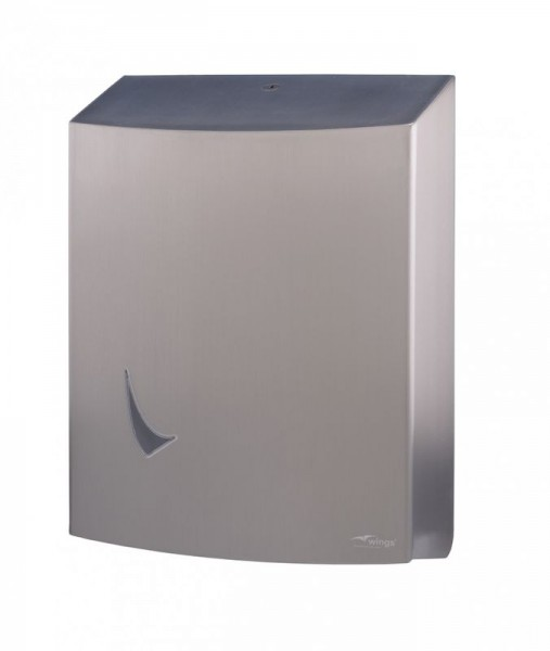 Winges paper towel dispenser made __of stainless steel Wings 4062