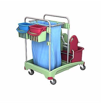 Splast antibacterial plastic cleaning system with bag holder and mop wringer Splast TSSA-0005