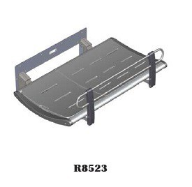 Pressalit gray shower bench for fixed wall mounting, max. load 200 kg