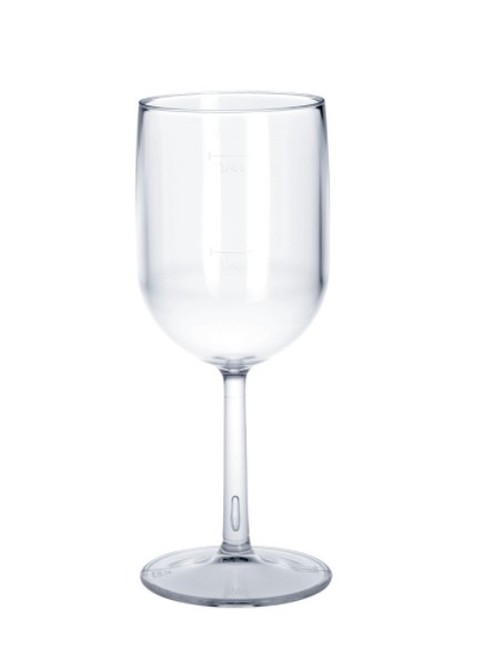 6er Set Kunststoff Weinglas 1/8l - 1/4l SAN glasklar wiederverwendbar