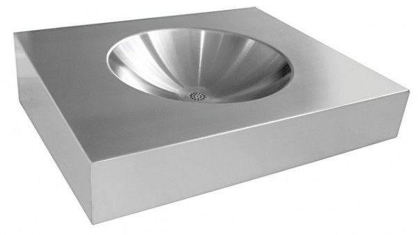 Franke singlewashbasin for wall mounting made of stainless steel with/without drilling Franke GmbH Variante:Mit Armaturenbohrungen ANMX600,ANMX601