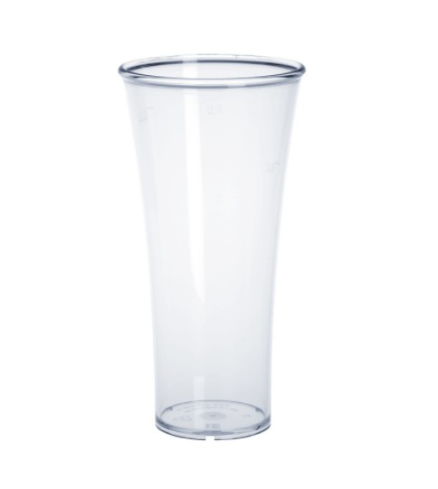 Set of 22 piece Plastic Elegance cup 0,3l reusable food safe crystal clear Schorm GmbH 9009