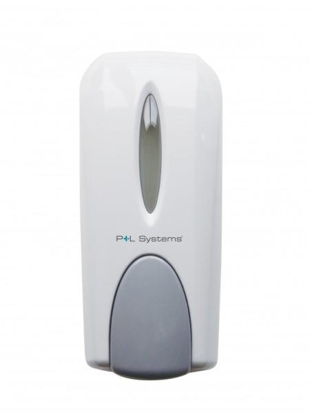 Klassik manueller dosierbarer Seifenspender in weiß oder chrom nachfüllbar Pelsis SDMW,SDMC