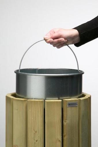 Rossignol verzinkter und runder Inneneimer 20L aus Stahl für Abfallbehälter Eden Rossignol 56780