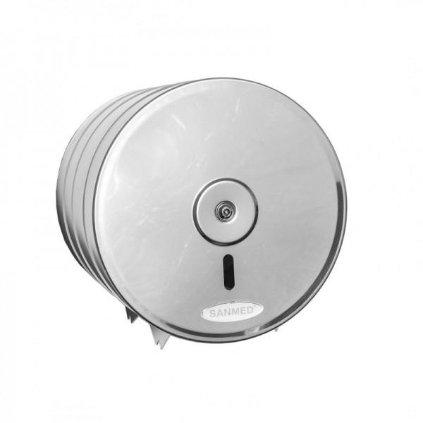 Sanmed Jumbo Toilettenpapierspender aus Edelstahl für max. 190 mm - HACCP Sanmed  PPT-190