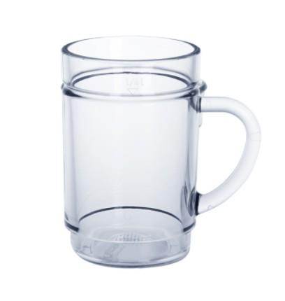 G`spritzter-Schorle-Glas 0,25l SAN glasklar Kunststoff stapelbar lebensmittelecht