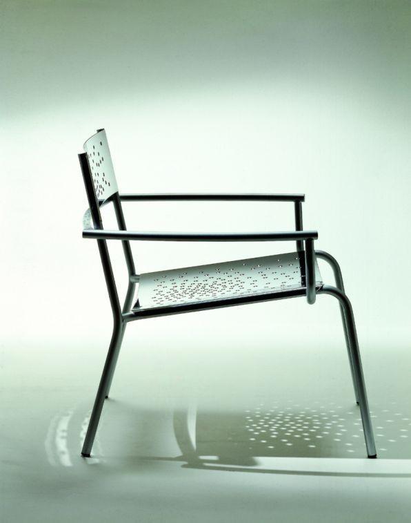 Tempesta hochwertiger Indoor Sessel aus Edelstahl 1.4016 ...